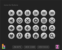 Icon and Toggle Buttons! - ZIM Bits