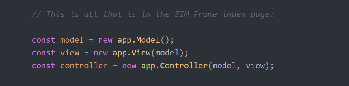ZIM MVC - Model View Controller - Code Creativity on the